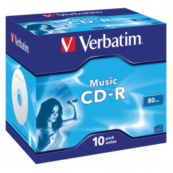 Verbatim Music CD-R 80 minuten voor audio