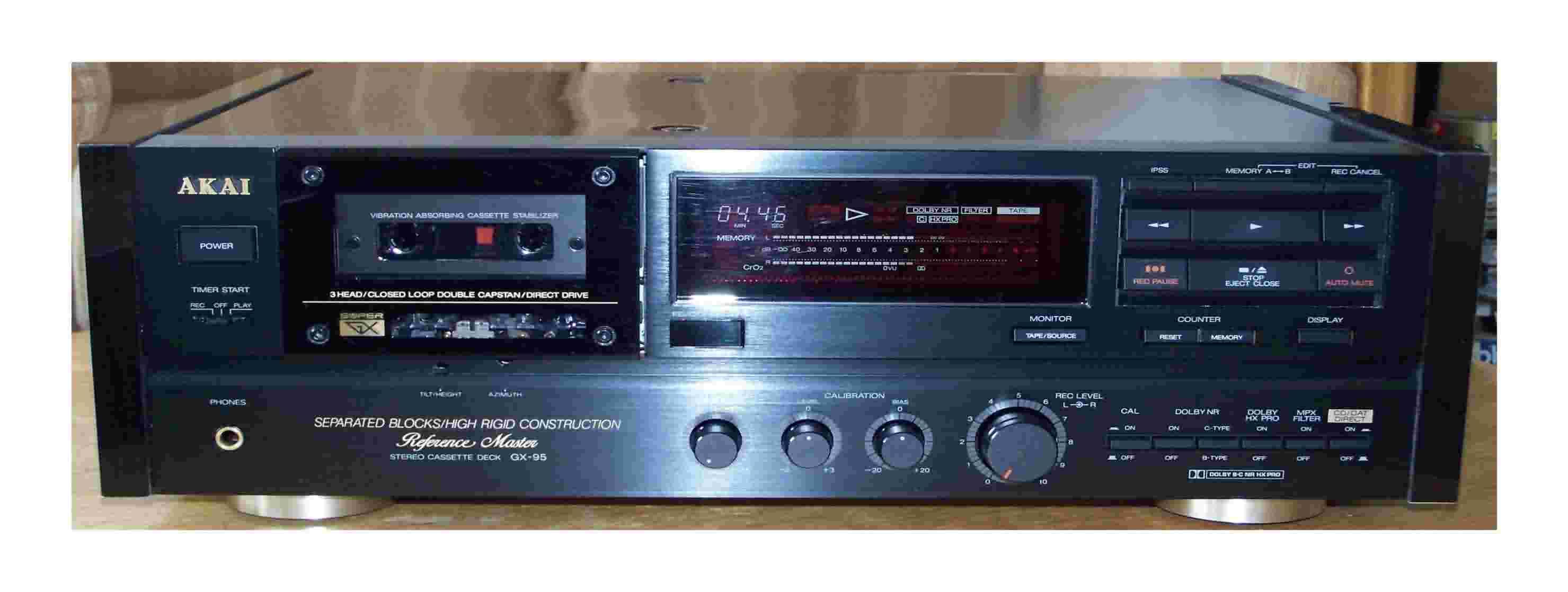 Akai GX CS DX Denon DR DRM DRS Nakamichi Onkyo TA Sony TC Yamaha K KX